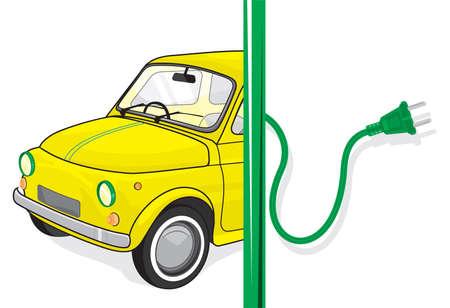 Alternative power concept eco car Stock Vector - 18094784