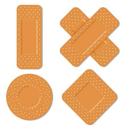 adhesive bandages Stock Vector - 18067034