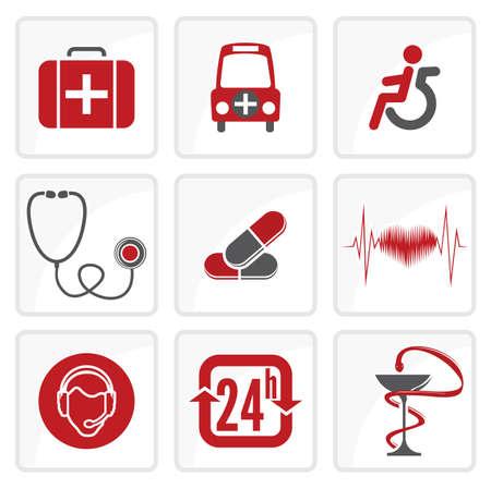 Medicine and Heath Care icons Stock Vector - 18048268