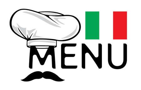 restaurant dining: Italian menu design
