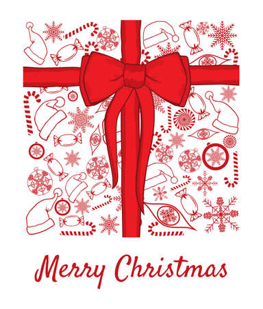 Merry Christmas Card Stock Vector - 18094808