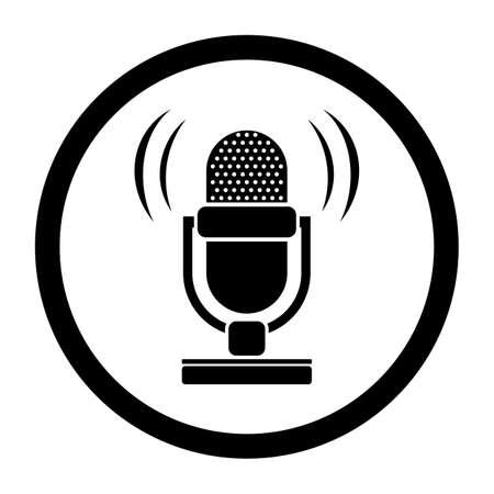 microphone retro: retro microphone icon Illustration