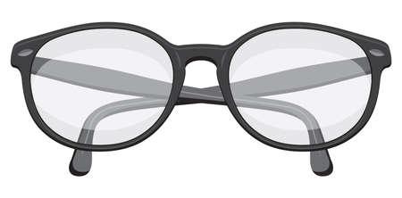 vision repair: Retro glasses Illustration