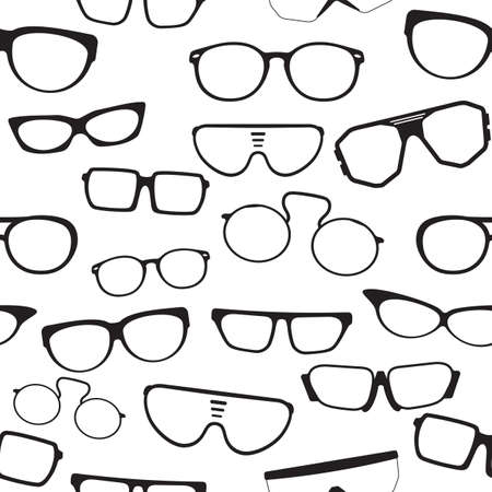 eye wear: Seamless glasses pattern Illustration