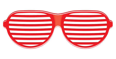 eyewear fashion: Red sunglasses isolated on white background