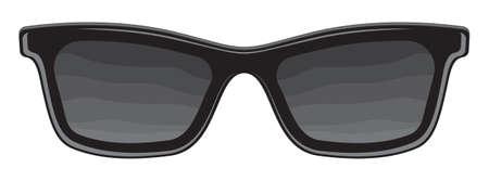 wayfarer: retro glasses Illustration