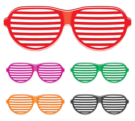 sole occhiali: Shutter Shades sole collezione occhiali Vettoriali
