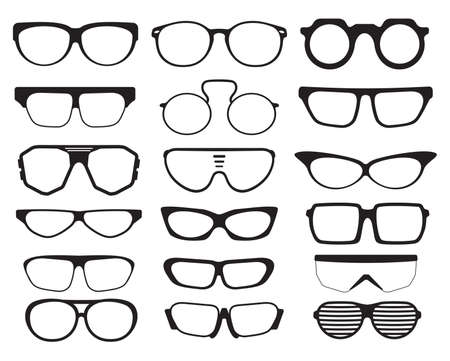 optical glass: Glasses and Sunglasses silhouettes