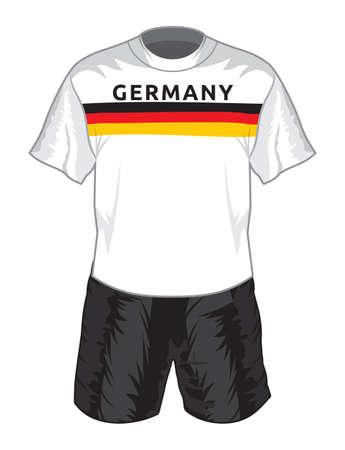 ドイツ サッカー制服  イラスト・ベクター素材
