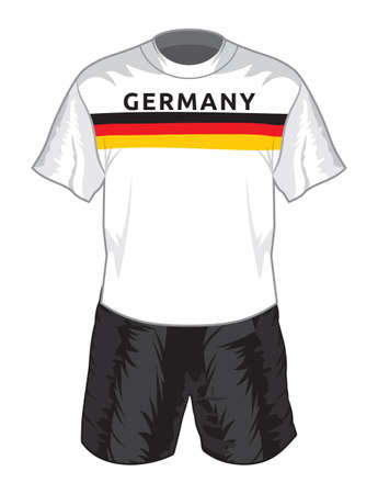 jerseys: Germany football uniform Illustration