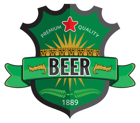 irish pub label: Beer label design