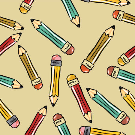pencils background Stock Vector - 18094795