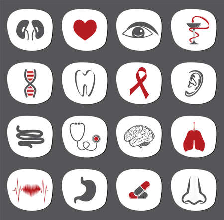 organs icon set Stock Vector - 18159007