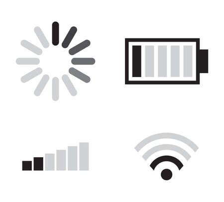 Set of connection icons Stock Vector - 18048212