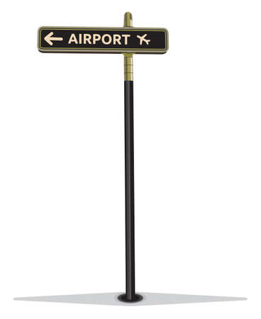 Airport street sign Stock Vector - 18094819