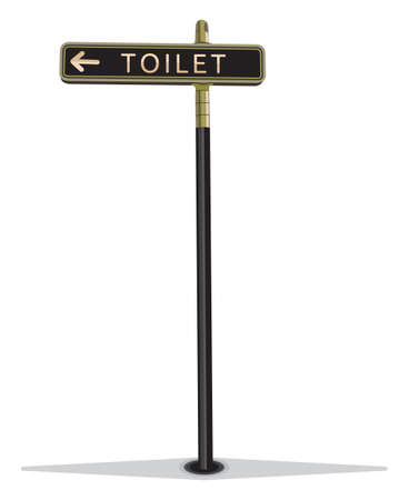 Street sign toilet Vector