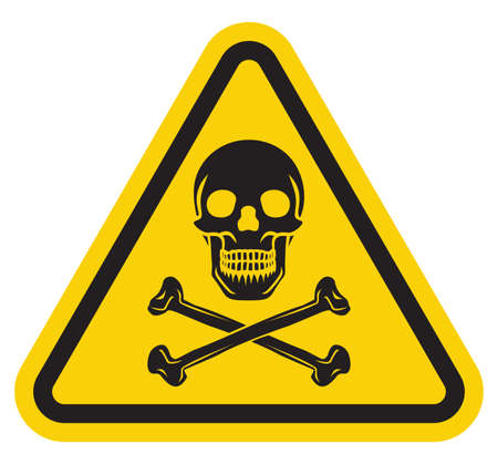 nuclear sign: danger sign Illustration