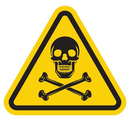 sustancias toxicas: Señal de peligro Vectores