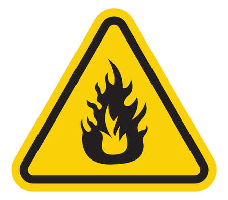 hazard sign: Fire sign Illustration