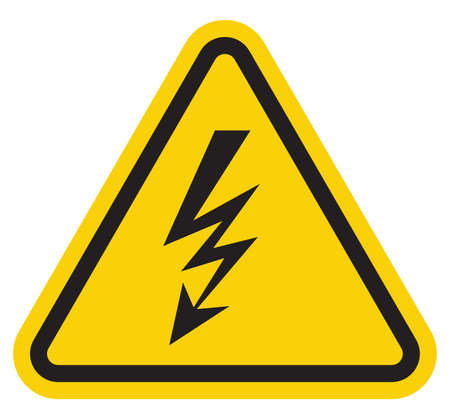 electrical safety: high voltage sign Illustration