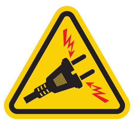 Triangle High Voltage Warning Sign Stock Vector - 18048232