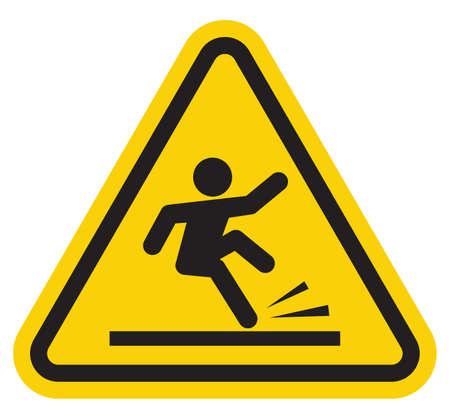 Piso mojado señal de advertencia Ilustración de vector