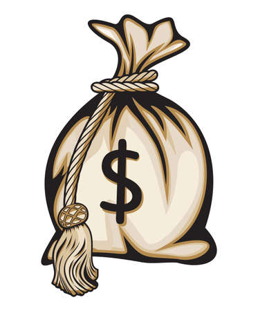 Money bag with dollar sign vector illustration Stock Vector - 18130814