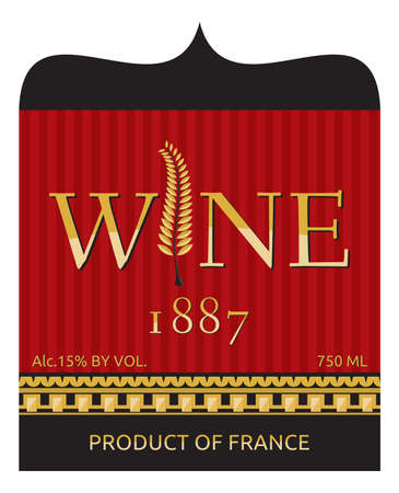 wine label design Stock Vector - 18130815