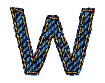fibres: Jeans alphabet Illustration