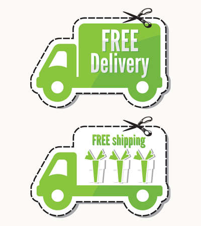 Free delivery, free shipping labels Stock Vector - 18099190