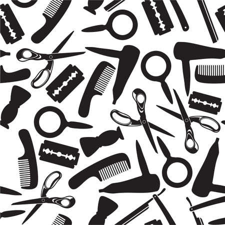 peine: peluquería salón fondo Vectores