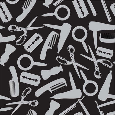scissors comb: hairdressing saloon background