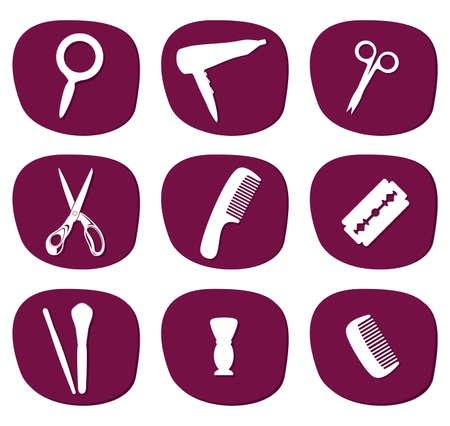 hair care icons Stock Vector - 18099202