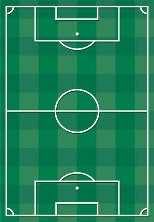 Soccer or football field Stock Vector - 18099167
