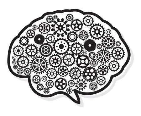 thinking machine: head and brain gear in progress