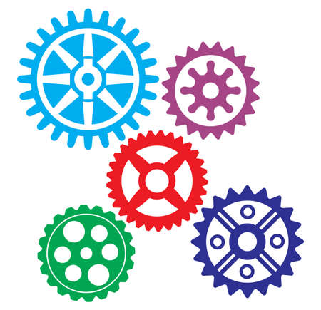 growing gears Stock Vector - 18082097