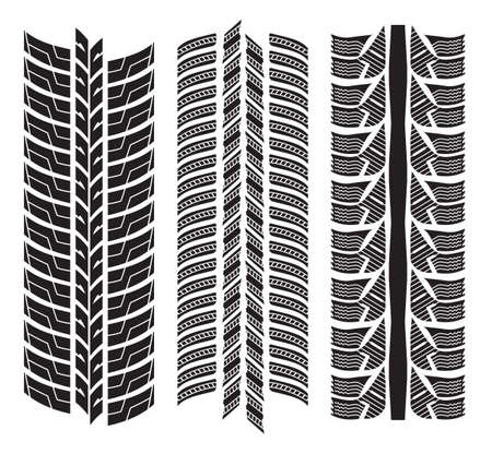 various tyre treads Stock Vector - 18099224