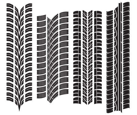 various tyre treads Stock Vector - 18099223