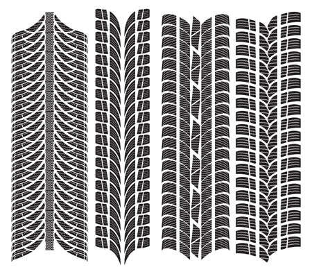 various tyre treads Stock Vector - 18099225