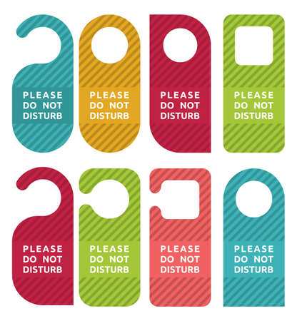 closed door: do not disturb door hanger set
