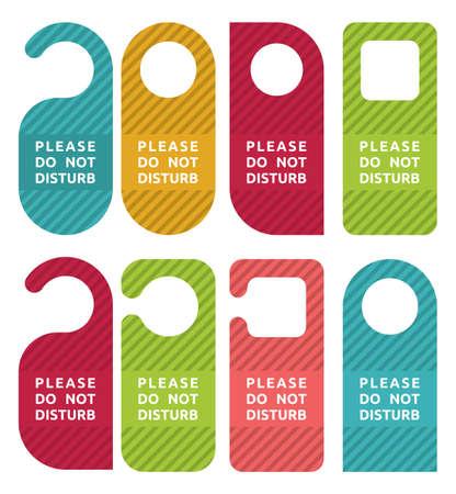 hotel room door: do not disturb door hanger set