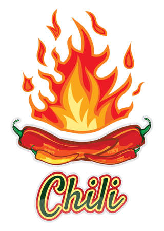 Hot chili pepper design Vector
