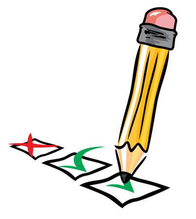 pen checking Stock Vector - 18099174