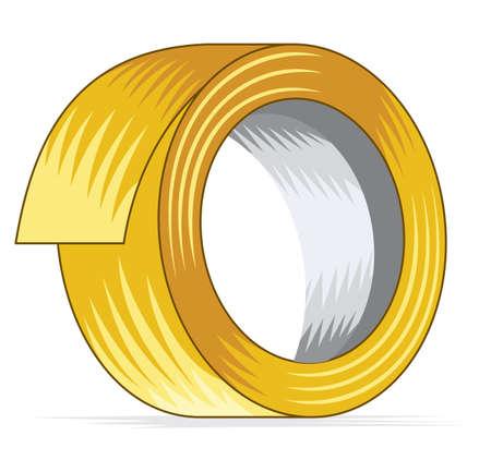 geel plakband Vector Illustratie