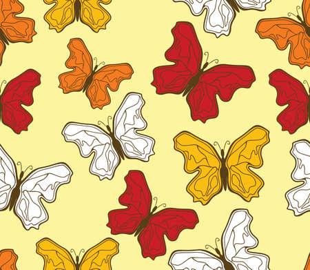 butterfly pattern Stock Vector - 18158997