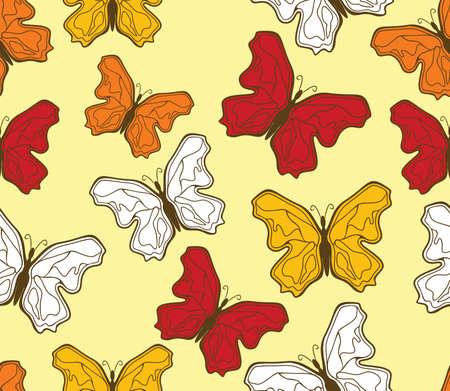 butterfly pattern Stock Vector - 18158997
