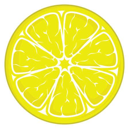 rodaja de limón aisladas sobre fondo blanco