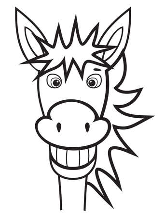 donkey black and white Stock Vector - 18158772