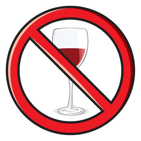 no alcohol sign Stock Vector - 18158783