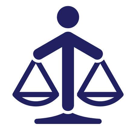 Justitie schaal Vector Illustratie